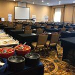 Vista Ballroom with Buffet of Food